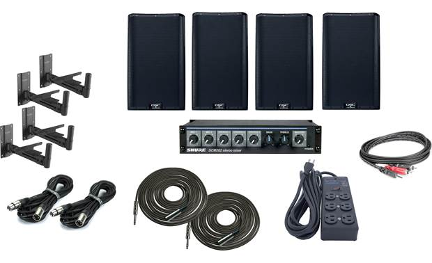 QSC High Output Gym Sound System Bundle Front