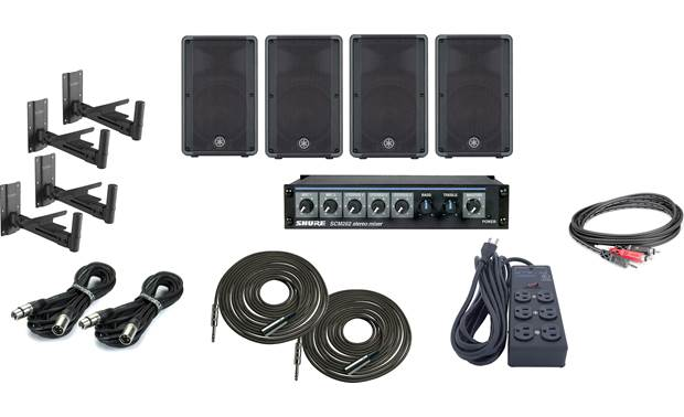 Yamaha High Output Gym Sound System Bundle Front