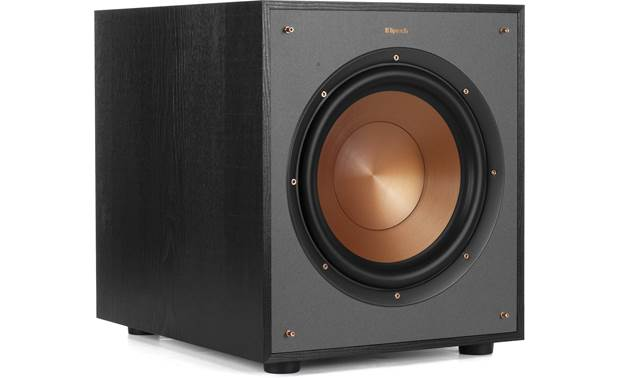 Klipsch R-100SW Angled view with grille removed