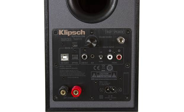 Klipsch Reference R-41PM Plenty of connections for your music sources