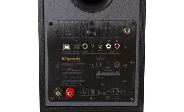 Klipsch Reference R-51PM Plenty of connections, including a phono input