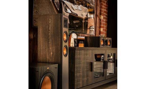 Klipsch Reference Premiere RP-5000F Shown as part of a full Klipsch system