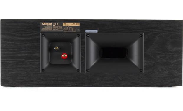 Klipsch Reference Premiere RP-500C Bass-reflex design with rear-firing Tractrix port (shown in black)