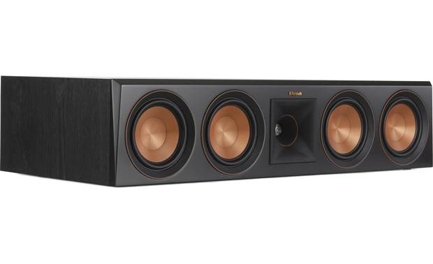 Klipsch RP-8060FA 5.1.2 Dolby Atmos® Home Theater Speaker System Angled view of center channel with grille removed