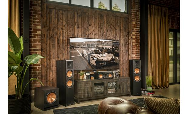 Klipsch Reference Premiere RP-6000F Shown as part of a Klipsch home theater system
