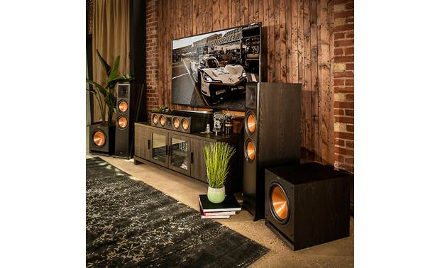 Klipsch SPL-100 Shown as part of a Klipsch home theater system