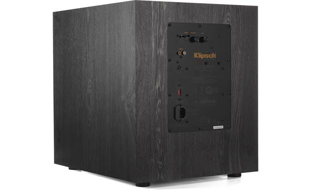 Klipsch RP-8060FA 5.1.2 Dolby Atmos® Home Theater Speaker System Back of subwoofer