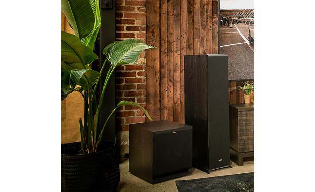 Klipsch SPL-120 Shown as part of a Klipsch home theater system