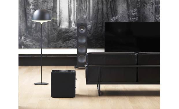 KEF KUBE 12b Shown in room (without any of the required cables attached)