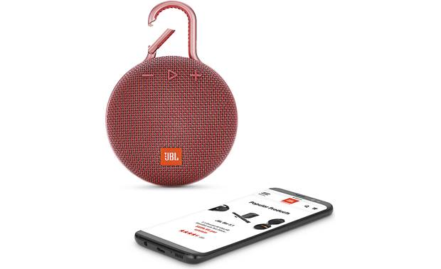 JBL Clip 3 Fiesta Red - stream wirelessly via Bluetooth (smartphone not included)