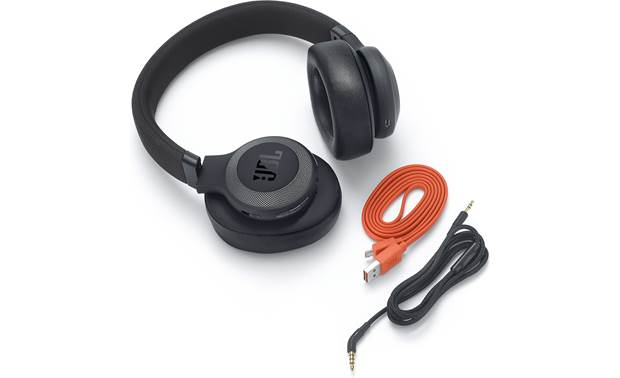 JBL E65BTNC Includes a USB charging cable and a 3.5mm headphone cable for wired listening