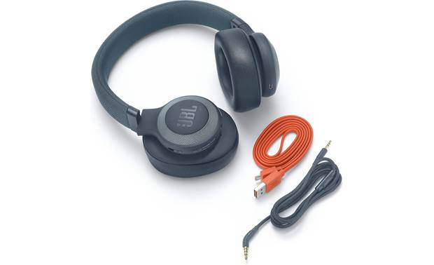 JBL E65BTNC Includes USB charging cable and 3.5mm headphone cable for wired listening