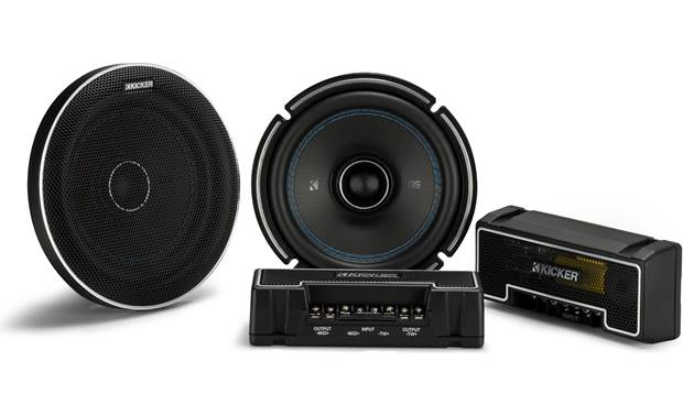 Kicker Q-Class 44QSC674 Audiophile-grade external crossovers improve tweeter and woofer performance