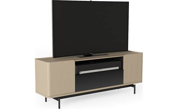BDI Radius 8839 Drift Oak - left front (sound bar and TV not included)