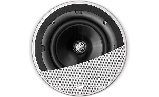 KEF Ci200QR Shown with grille partially cut away