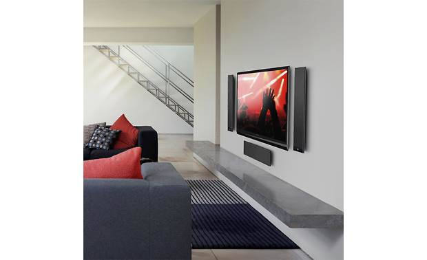 KEF T101 Shown as part of a KEF home theater system