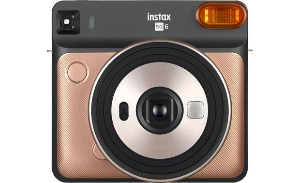 Fujifilm Instax SQUARE SQ6 Shown with orange flash filter in place