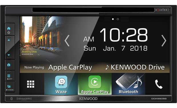 Kenwood Excelon DDX6905S Use touchscreen controls or voice commands to get at all of your media