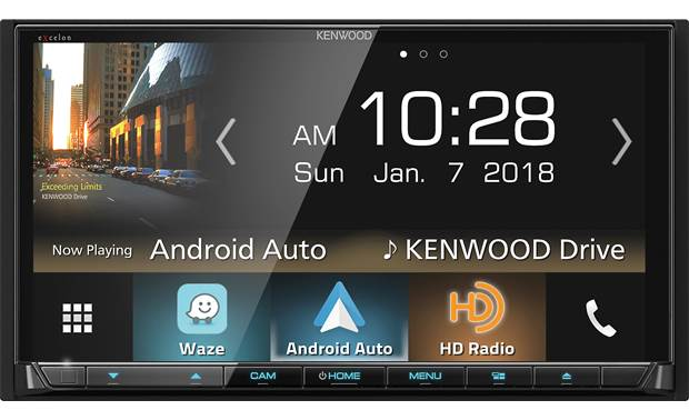 Kenwood Excelon DDX8905S The big touchscreen display gives you access to Android Auto, Apple CarPlay, and WebLink