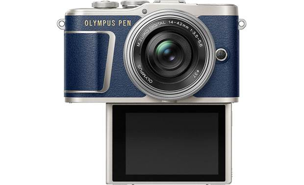 Olympus PEN E-PL9 Kit Shown with touchscreen facing forward