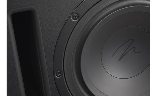 MartinLogan Dynamo™ 600X Down-firing woofer and slot port (detail)