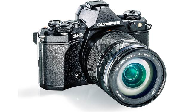 Olympus E-M5 Mark II Weatherproof Kit Angled front view
