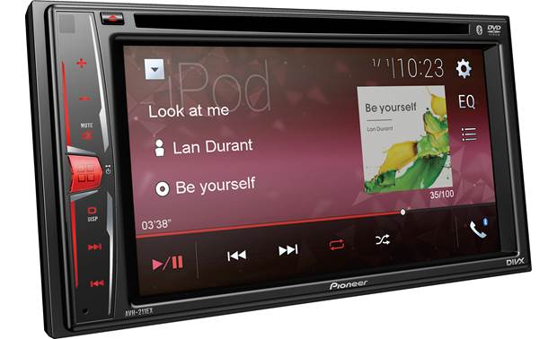 Pioneer AVH-211EX Song and artist info display
