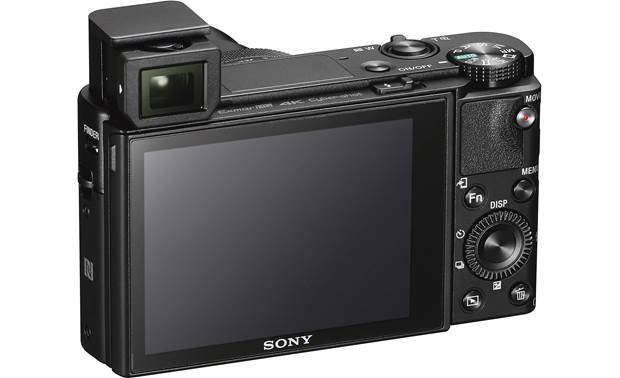 Sony Cyber-shot® DSC-RX100 V Back, with pop-up viewfinder deployed