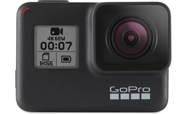 GoPro HERO7 Black Front screen helps monitor settings and functions
