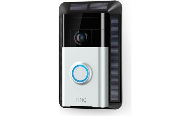 Ring Solar Charger Shown with Ring Video Doorbell (sold separately)