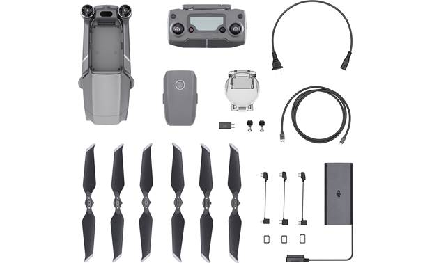 DJI Mavic 2 Pro Quadcopter Shown with included accessories