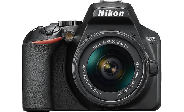 Nikon D3500 Two Lens Kit Front, straight-on
