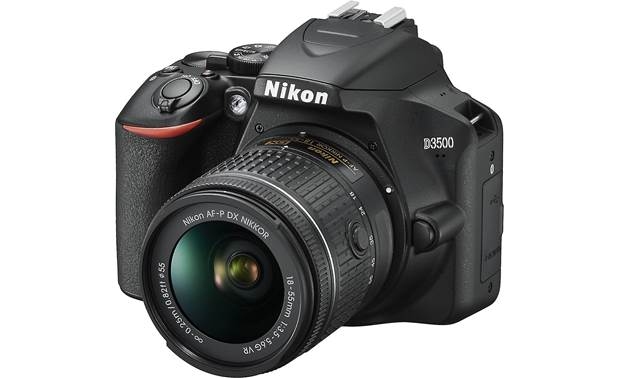 Nikon D3500 Two Lens Kit Angled front view