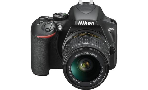 Nikon D3500 Two Lens Kit Front, higher angle