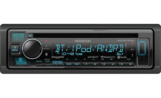Kenwood KDC-BT375U Control your Bluetooth, Internet radio, and tone controls using the Kenwood Remote app