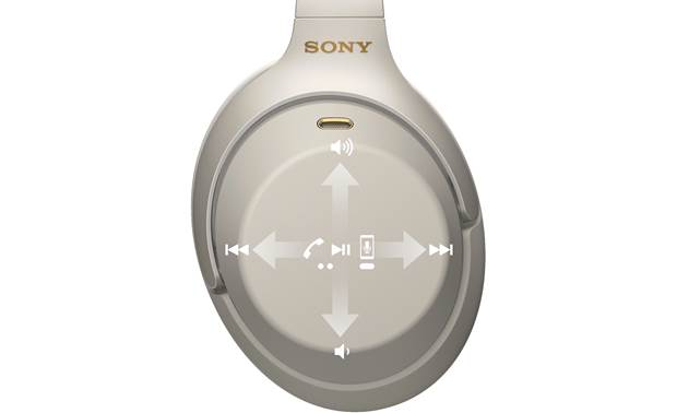 Sony WH-1000XM3 Touch control over music and phone calls
