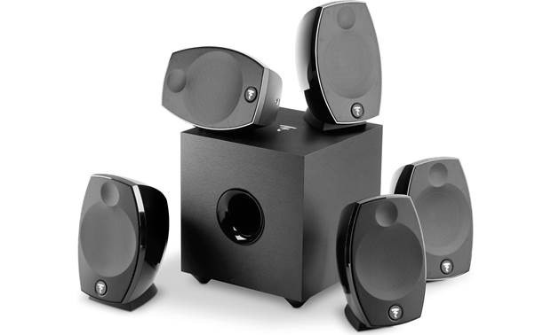 Focal Sib Evo 5.1 Pack 5 compact speakers and a powered subwoofer