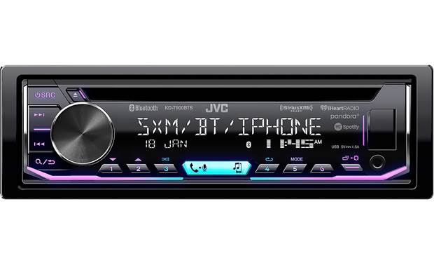In-Dash CD Receiver Built-in Bluetooth JVC Satellite Radio-Ready with D...