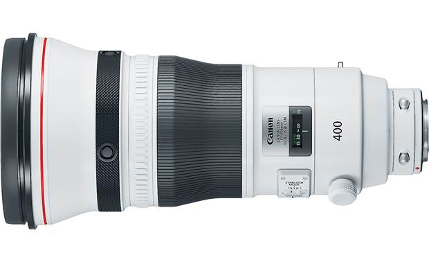Canon EF 400mm f/2.8L IS III USM Side view, shown without tripod collar