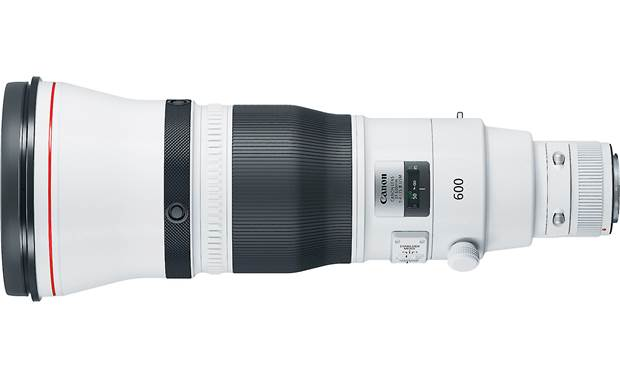 Canon EF 600mm f/4L IS III USM Side view, shown without tripod collar