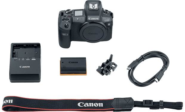 Canon EOS R (no lens included) Shown with included accessories