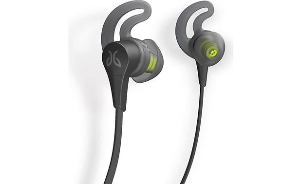 "Jaybird X4 Wireless Three pairs of ear ""fins"" included to help secure earbuds"