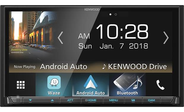 Kenwood DMX7705S Choose between Android Auto and Apple CarPlay for superior smartphone integration