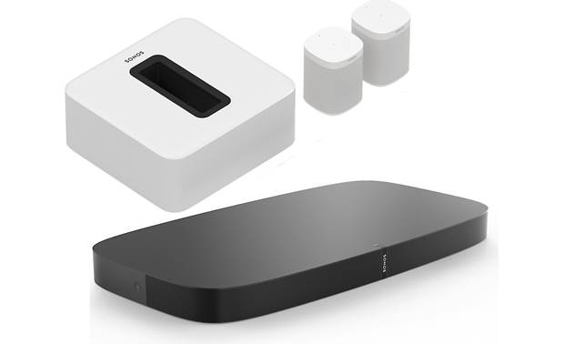 Sonos Playbase 5.1 Home Theater System Black/White Sub & Surrounds