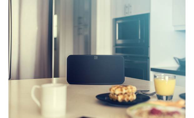 Bluesound Pulse Mini 2i Black - compact shape lets the Pulse Mini 2i fit just about anywhere (requires AC power)