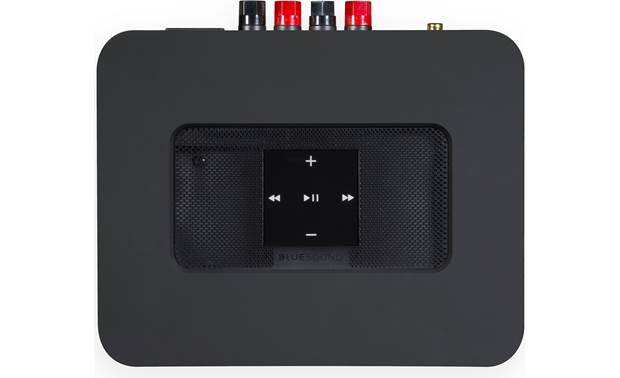 Bluesound Powernode 2i Black - top-mounted control buttons