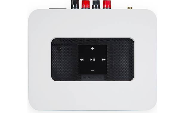 Bluesound Powernode 2i White - top-mounted control buttons