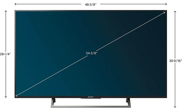 Sony XBR-55X800E Dimensions