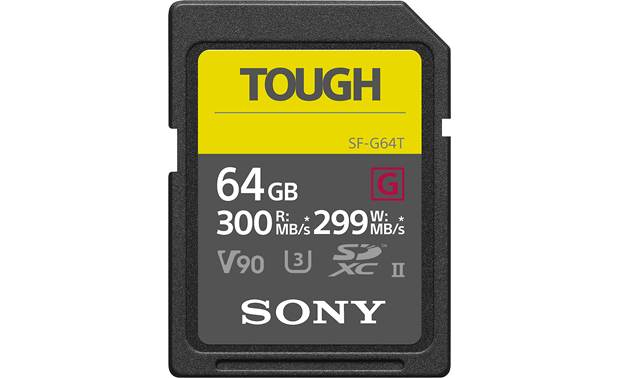 Sony SF-G Series Tough SDXC Memory Card Front