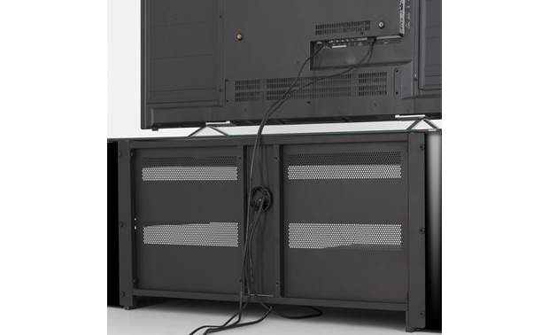 AVF Affinity Plus Kensington 1250 Black - openings for cable management (TV not included)
